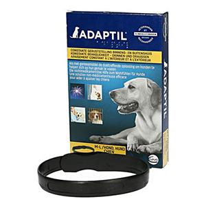 Adaptil halsband in een doosje tegen stress bij de hond