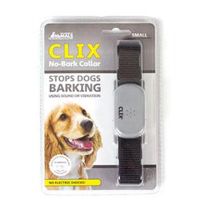 Clix anti-blafband voor kleine honden, zwarte halband met grijs kastje