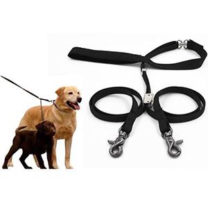 Duo hondenlijn voor het uitlaten van twee honden tegelijk aan een riem