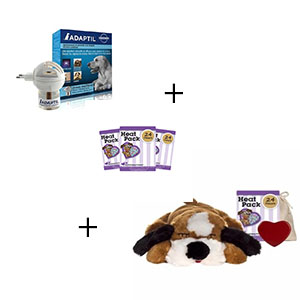 Snuggle puppy met 3 extra heat packs en adaptilverdamper