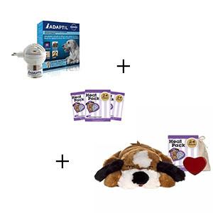 Snuggle puppy met 3 extra heat packs en adaptilverdamper