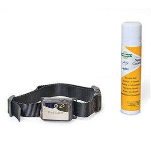 Antiblafband Petsafe mt spray voor grote honden boven 18 kg. met citronella spuitbus en zwarte halsband