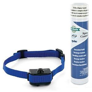 Antiblafhalsband Deluxe voor kleine honden met busje geurloze spray een blauwe halsband van Petsafe