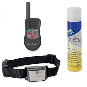 Correctieband met spray met nylon halsband en afstandsbediening en busje citronella spray