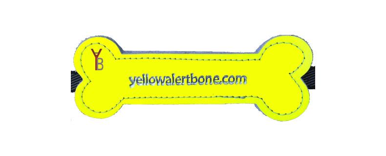 Yellow Alert Bone voor de hond die meer afstand wil