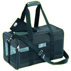Transport tas van nylon van merk Nobby in het zwart met diverse gaasopeningen met ritssluitingen