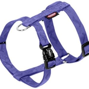 Blauw hondentuig met kliksluiting op de buikband