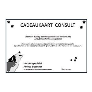 Cadeaukaart gedragstherapie consult te besteden bij Hondenspecialist Arnoud Busscher