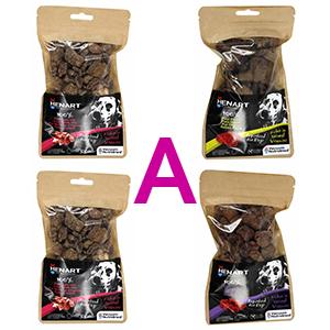 Pakket A Henart snacks paketten voor hond en kat met 4 smaken