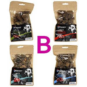 Pakket B Henart snack voor hond en kat 4 smaken