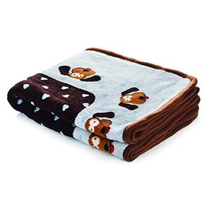 Fleece Snuggle deken blauw
